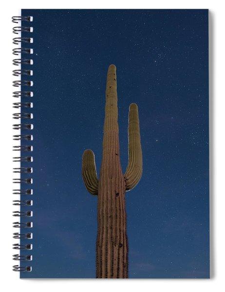 Saguaro At Night Spiral Notebook