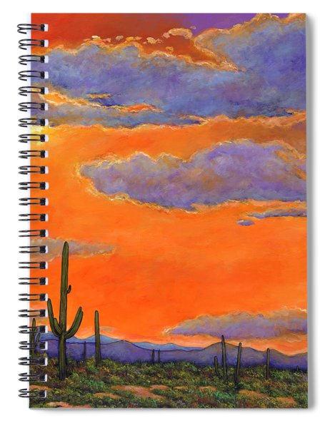 Saguaro Sunset Spiral Notebook
