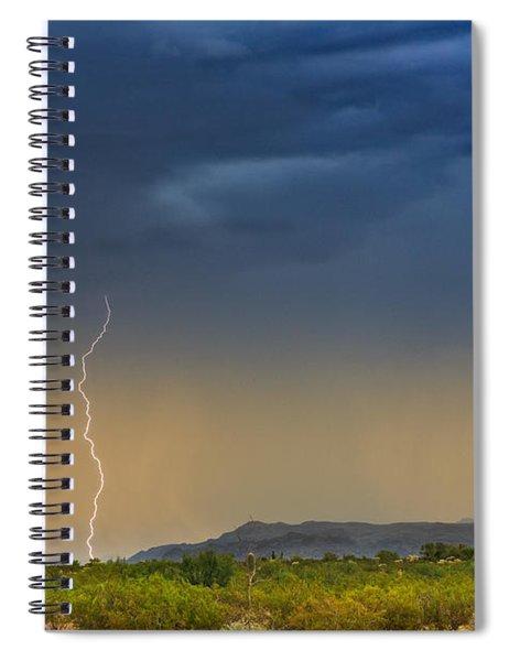 Saguaro With Lightning Spiral Notebook