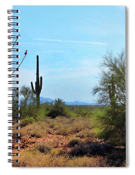 Saguaros In Sonoran Desert Spiral Notebook