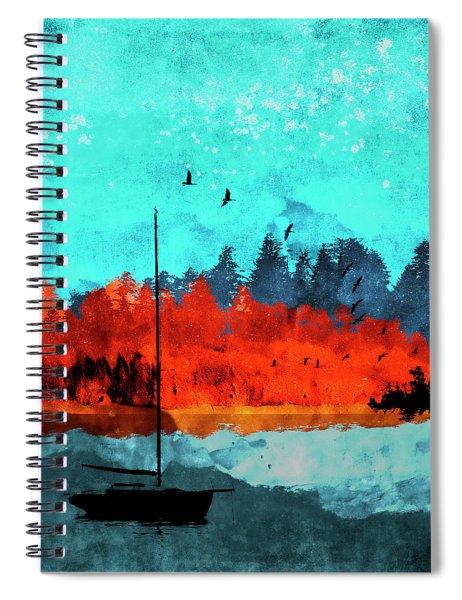Sailboat Daybreak Lake Spiral Notebook