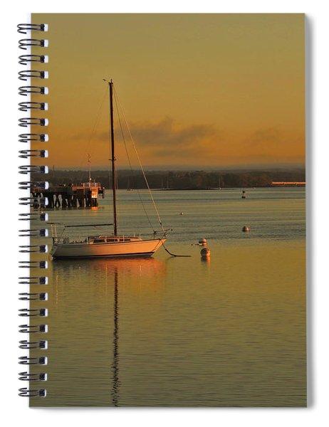 Sailboat Glow Spiral Notebook