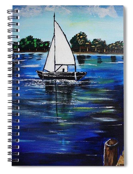 Sailboats And Pier Spiral Notebook