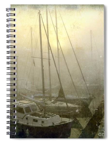 Sailboats In Honfleur. Normandy. France Spiral Notebook