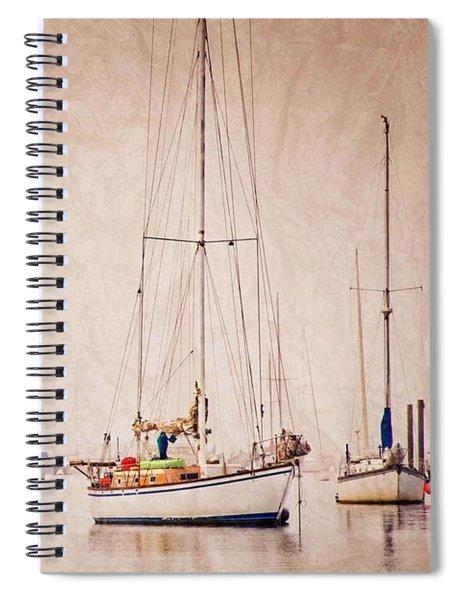 Sailboats In Morro Bay Fog Spiral Notebook
