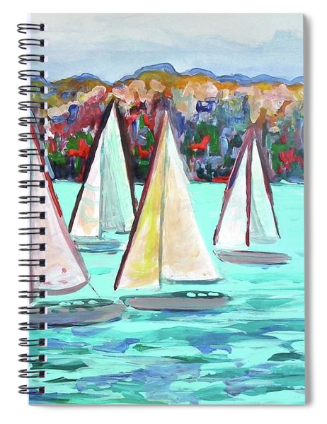 Sailboats In Spain I Spiral Notebook