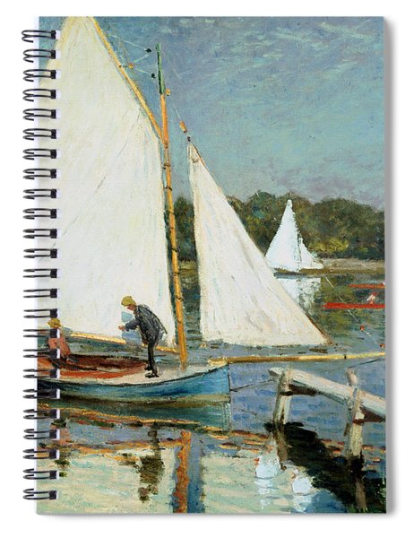 Sailing At Argenteuil Spiral Notebook