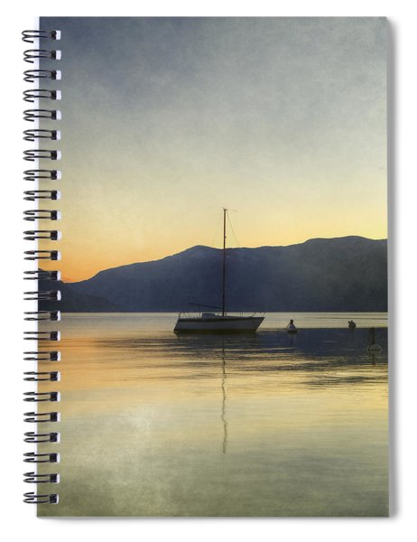 Sailing Boat In The Sunset Spiral Notebook