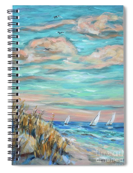Sailing Close To Shore Spiral Notebook