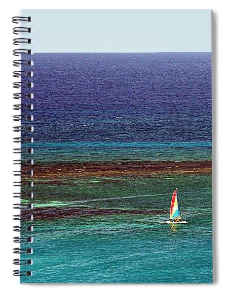 Sailing Day Spiral Notebook by Karen Zuk Rosenblatt