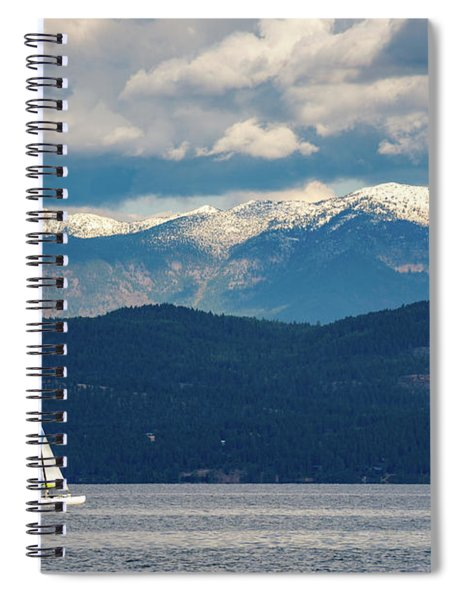 Sailing Flathead Lake Spiral Notebook