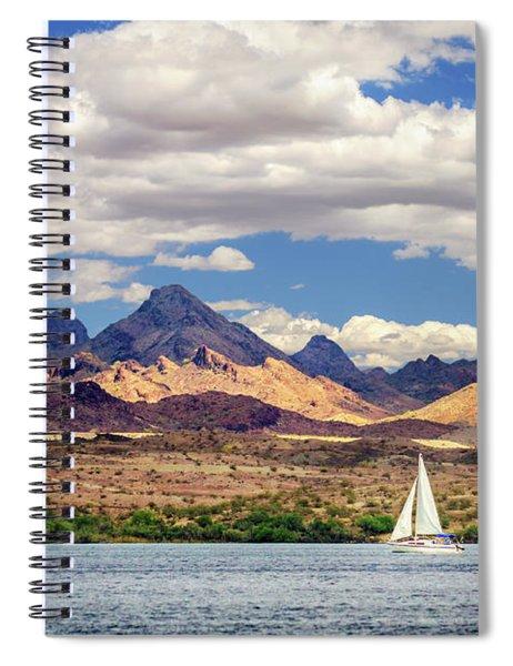 Sailing In Havasu Spiral Notebook