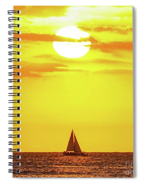 Sailing In Hawaiian Sunshine Spiral Notebook