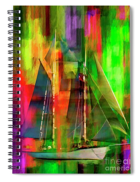 Sailing In The Abstract 2016 Spiral Notebook