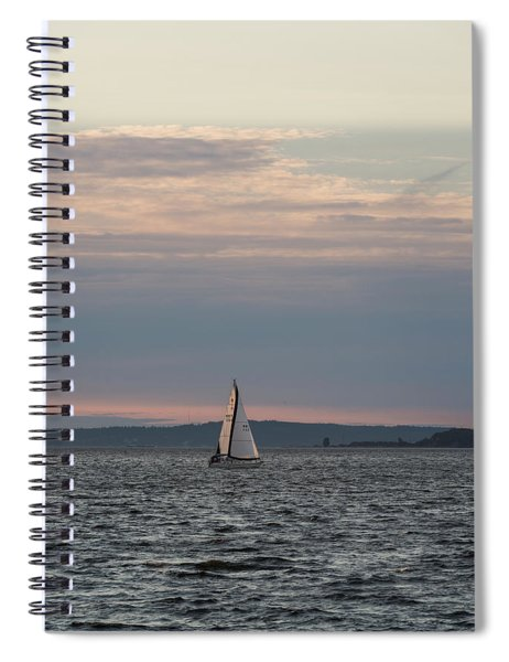 Sailing In The Puget Sound Spiral Notebook