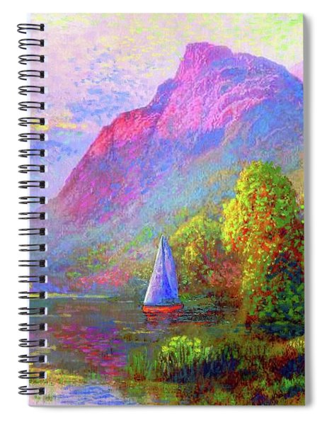 Sailing Into A Quiet Haven Spiral Notebook