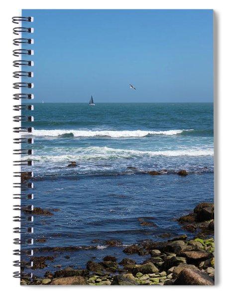 Sailing Off The Coast At Narragansett Pier Spiral Notebook