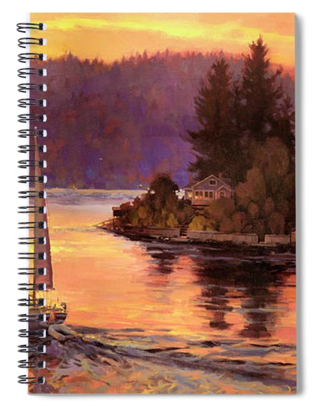 Sailing On The Sound Spiral Notebook