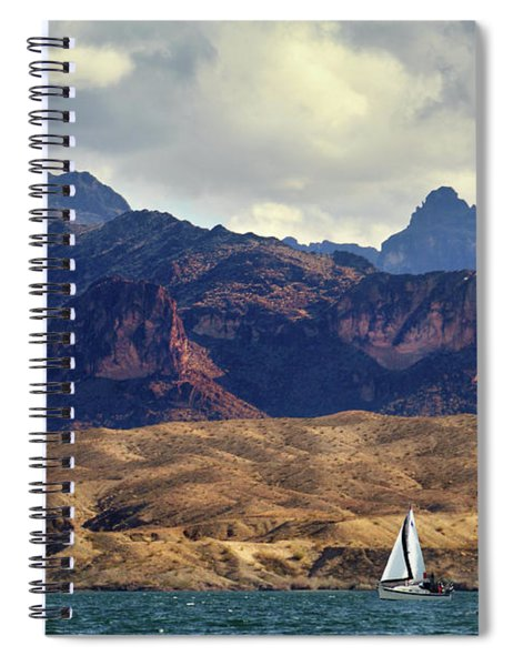 Sailing Past The Sleeping Dragon Spiral Notebook