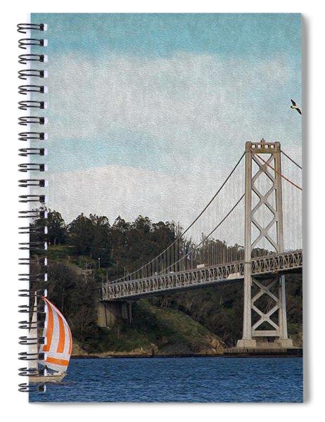 Sailing The Bay Spiral Notebook