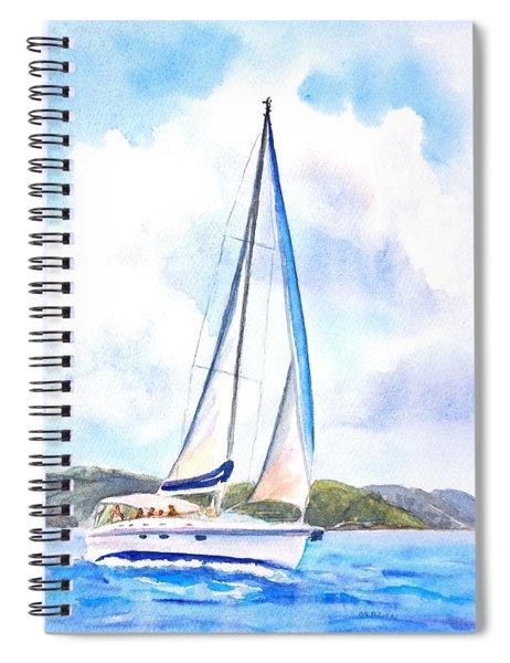 Sailing The Islands 2 Spiral Notebook