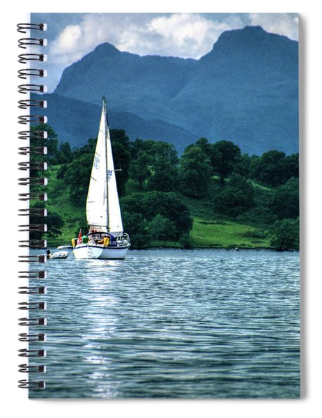 Sailing The Lakes Spiral Notebook