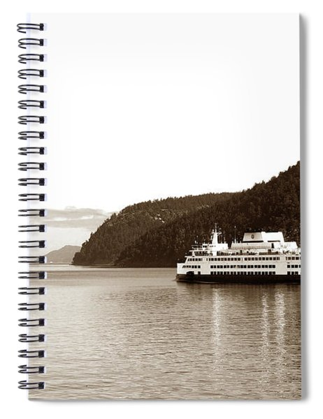Sailing The San Juan Islands Spiral Notebook by Lorraine Devon Wilke