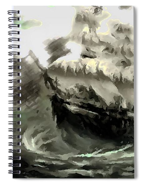 Sailing The Stormy Seas Spiral Notebook