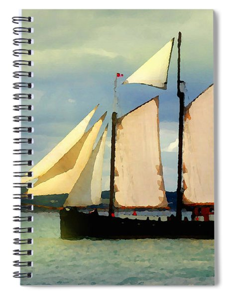Sailing The Sunny Sea Spiral Notebook