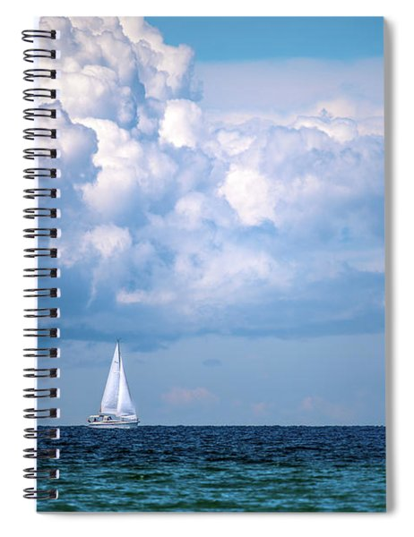 Sailing Under The Clouds Spiral Notebook