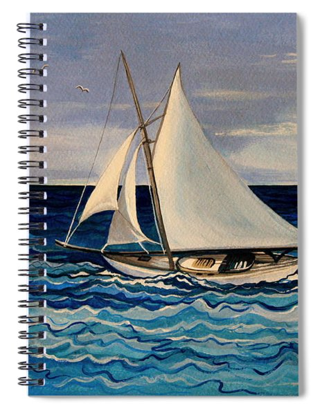 Sailing With The Waves Spiral Notebook