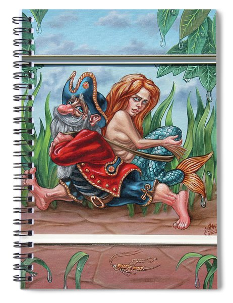 Sailor And Mermaid Spiral Notebook