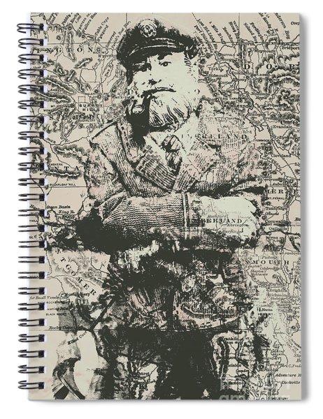 Sailors Vintage Adventure Spiral Notebook