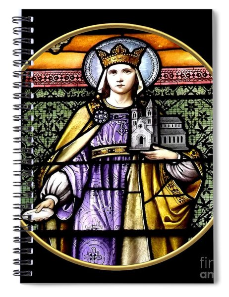 Saint Adelaide Stained Glass Window In The Round Spiral Notebook