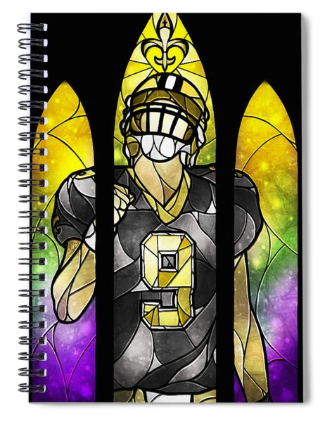 Saint Brees Spiral Notebook