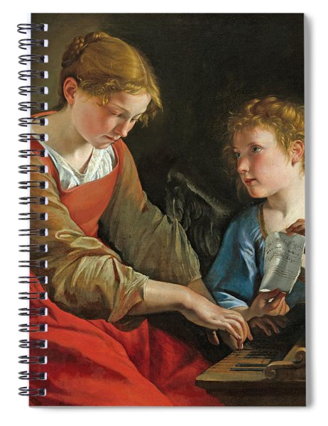 Saint Cecilia And An Angel Spiral Notebook