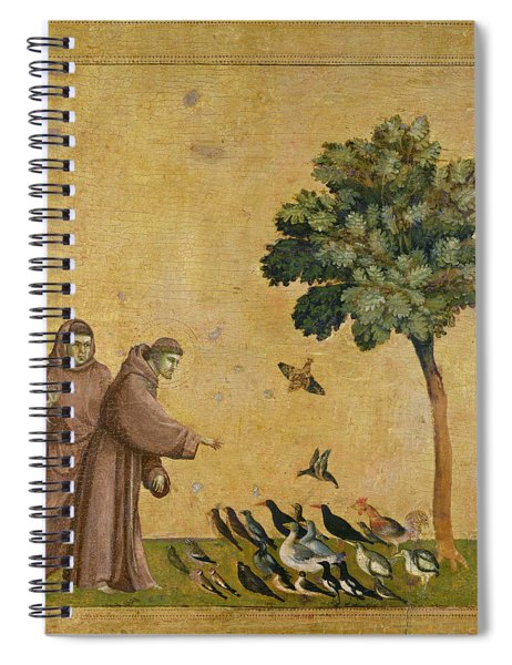 Saint Francis Of Assisi Preaching To The Birds Spiral Notebook