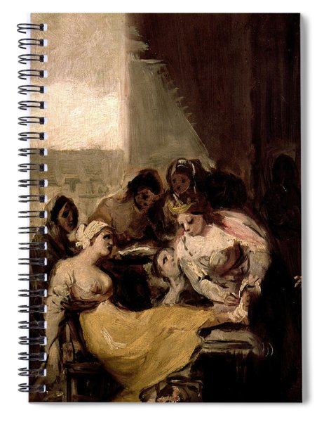 Saint Isabel Of Portugal Healing The Wounds Of A Sick Woman Spiral Notebook