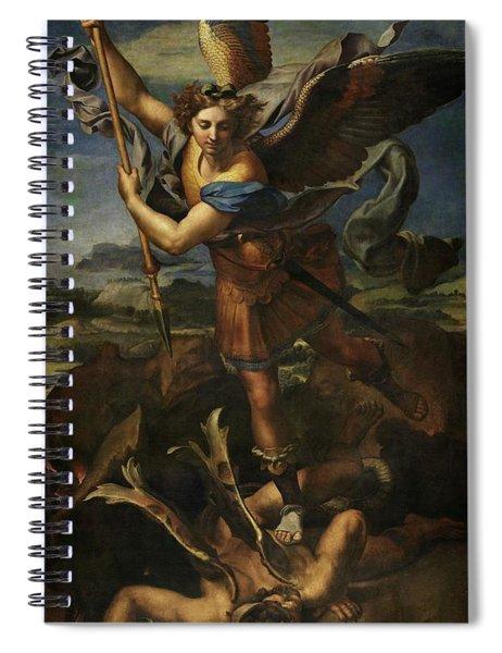 Saint Michael Defeats Satan Spiral Notebook