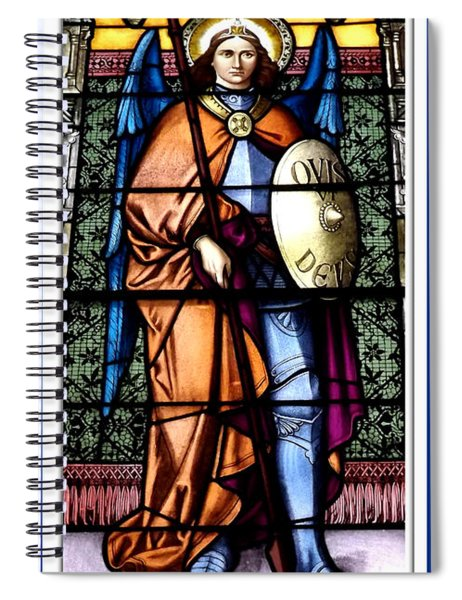 Saint Michael The Archangel Stained Glass Window Spiral Notebook