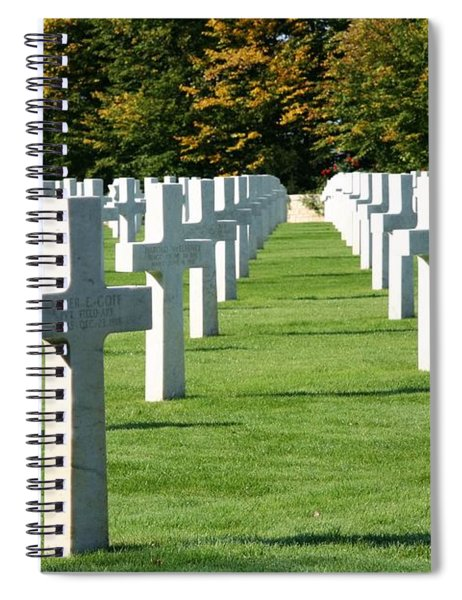 Saint Mihiel American Cemetery Spiral Notebook by Travel Pics