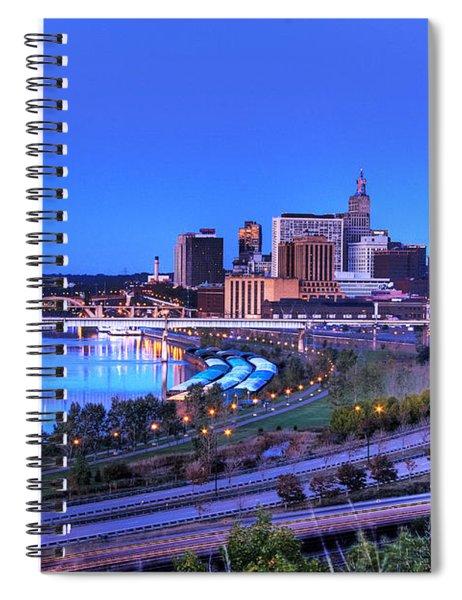 Saint Paul Minnesota Skyline Blue Morning Light Spiral Notebook