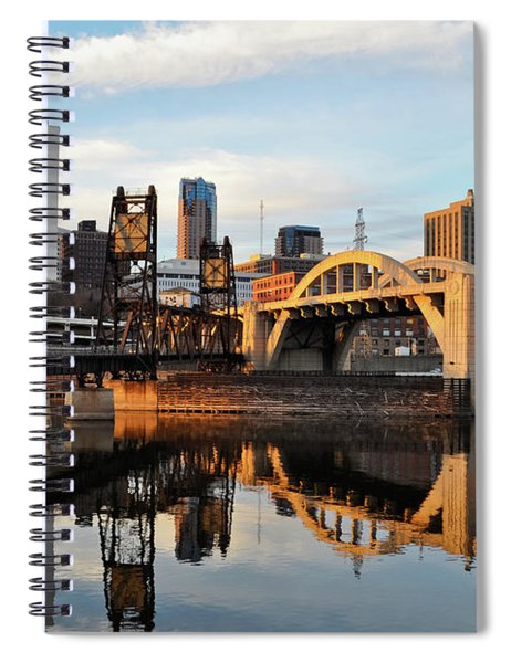 Saint Paul Mississippi River Sunset Spiral Notebook