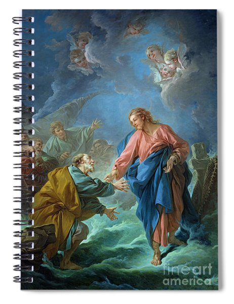 Saint Peter Invited To Walk On The Water Spiral Notebook