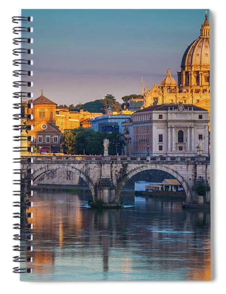 Spiral Notebook featuring the photograph Saint Peters Basilica by Inge Johnsson