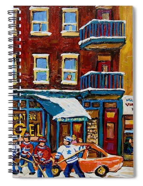 Saint Viateur Bagel With Hockey Spiral Notebook