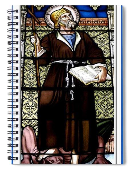Saint William Of Aquitaine Stained Glass Window Spiral Notebook