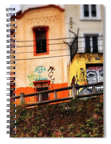 Spiral Notebook featuring the photograph Saks by Skip Hunt