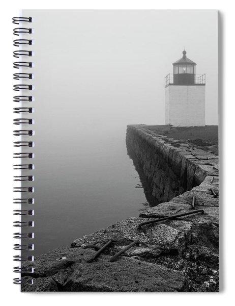 Salem Ma Derby Wharf In Heavy Fog Spiral Notebook