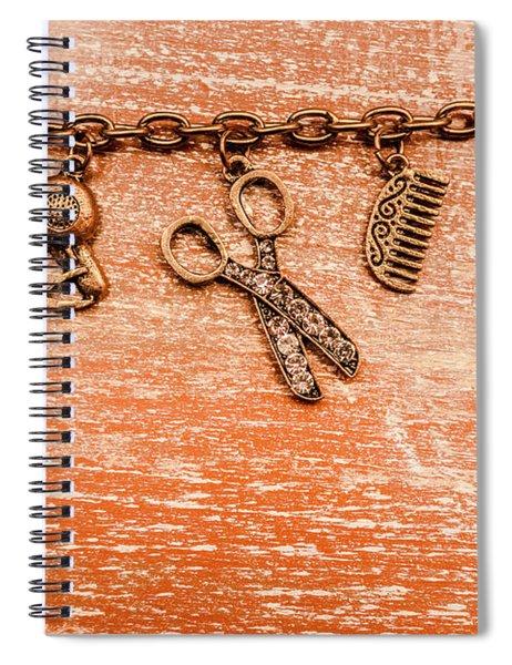 Salon Hair Cut Tools Spiral Notebook